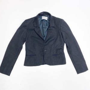 Diane Von Furstenberg Black Cropped Blazer 4